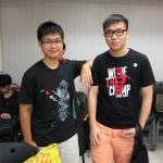 The clash of the Scrabble experts: Johnny Tse (Left) and Ryan Wong (Right)